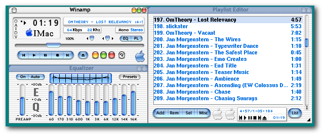 XMMS MP3 Audio Player Screenshot